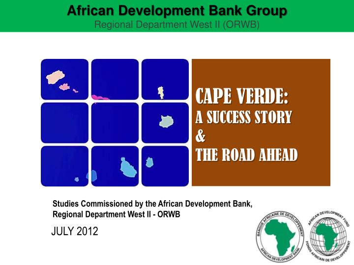 studies commissioned by the african development bank regional department west ii orwb n.