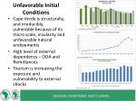 unfavorable initial conditions
