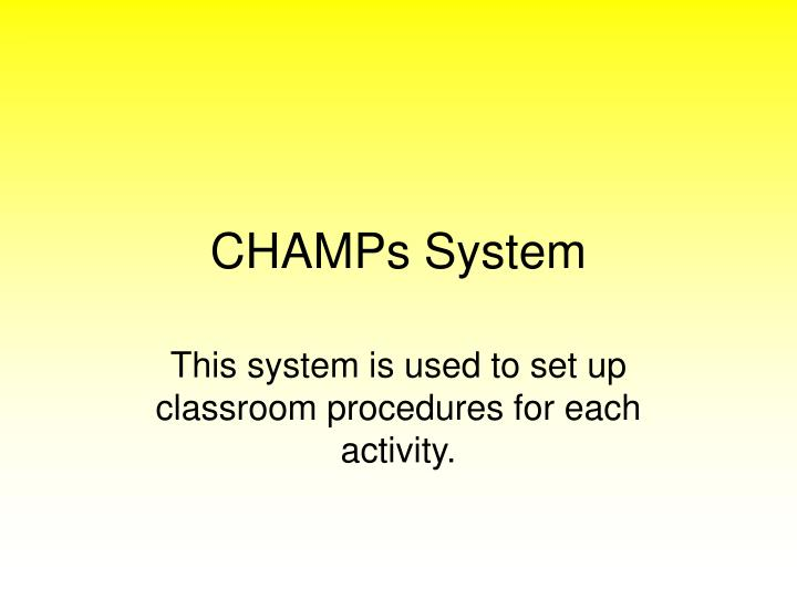 champs system n.