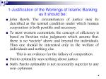 1 justification of the workings of islamic banking as it should be7