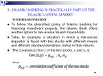 3 islamic banking is practically part of the islamic capital market