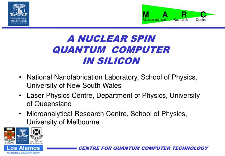 a nuclear spin quantum computer in silicon n.