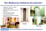 the melbourne pelletron accelerator