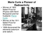 marie curie a pioneer of radioactivity