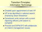 transition principles information technology