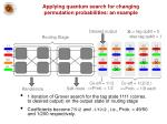 applying quantum search for changing permutation probabilities an example