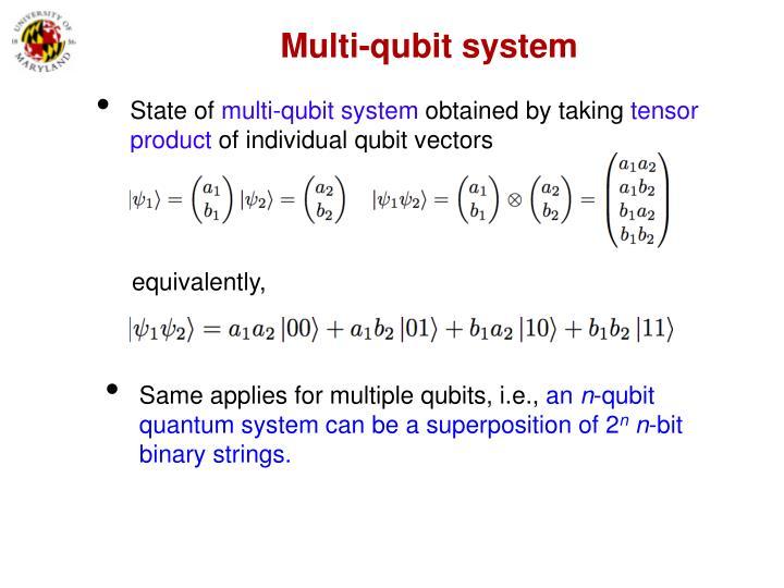 Multi-qubit system