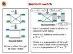 quantum switch