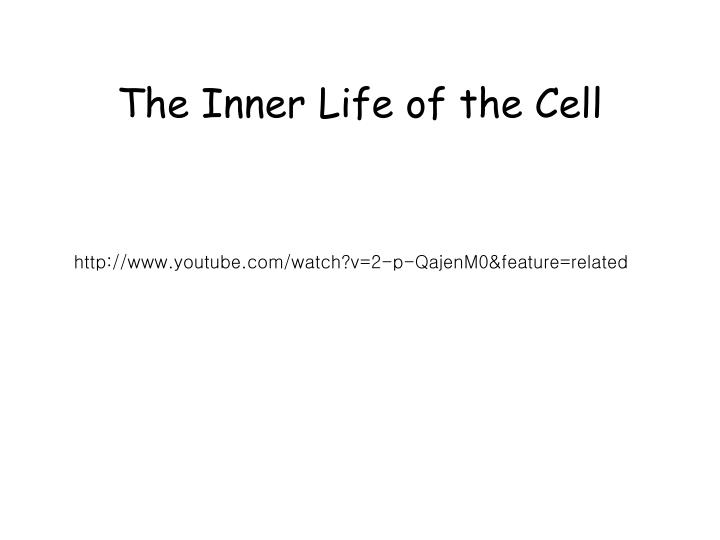 the inner life of the cell n.