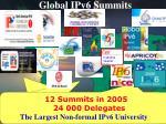global ipv6 summits