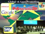 global v6 apps promotion