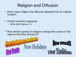 religion and diffusion