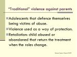 traditional violence against parents1