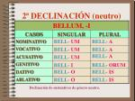 2 declinaci n neutro
