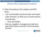 eleven store operating functions1