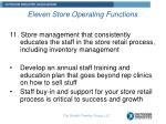 eleven store operating functions10