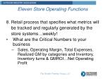 eleven store operating functions7