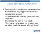 eleven store operating functions8