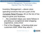 inventory management the process is more important then the technology1