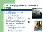 the changing makeup of the u s forces