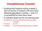 completeness counts