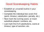 good scorekeeping habits