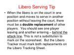 libero serving tip
