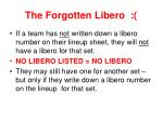 the forgotten libero