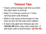timeout tips