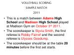 volleyball scoring sample match 2011