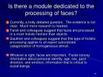 is there a module dedicated to the processing of faces