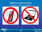 meeting optimisation 3 hours every 4 months