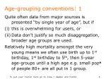 age grouping conventions 1