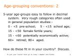 age grouping conventions 2