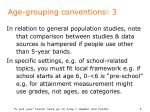 age grouping conventions 3