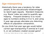 age misreporting