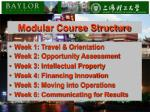 modular course structure