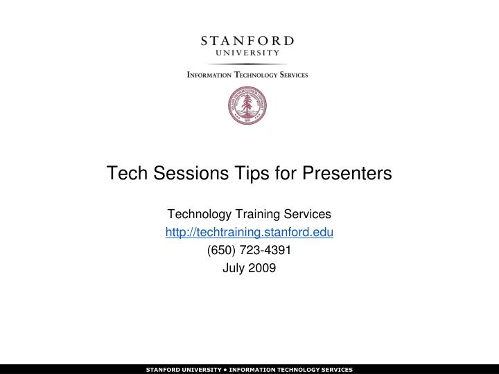 tech sessions tips for presenters n.