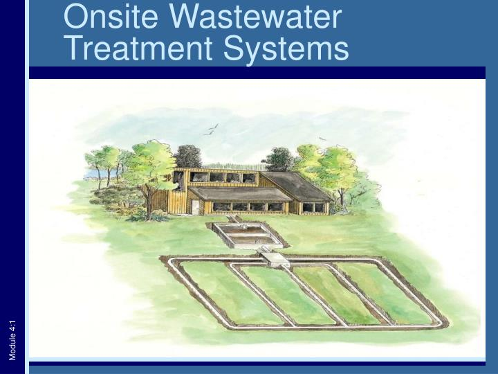 onsite wastewater treatment systems n.
