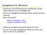 semaphores vs monitors