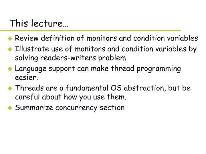 this lecture n.