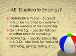 ae duplicate endings