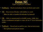 power o types of players needed