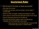 quarterback rules