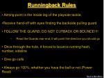 runningback rules