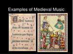 examples of medieval music