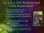 3 4 5 unit residency and grade requirements