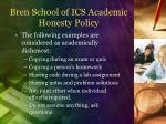 bren school of ics academic honesty policy