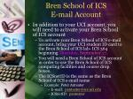 bren school of ics e mail account