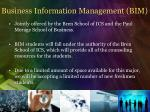 business information management bim